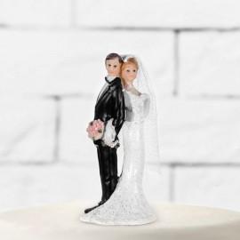 Sagoma di Sposi con Bouquet