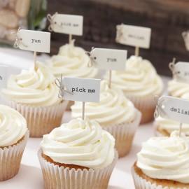 12 Topper per Cupcake Vintage