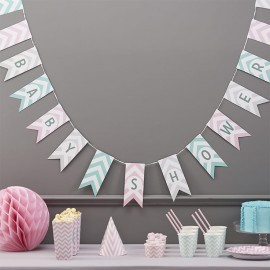 Bandierine Baby Shower Chevron
