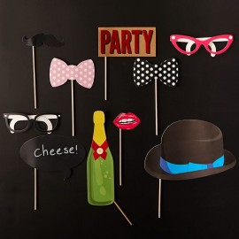 10 Accessori per Photo Booth di Compleanno