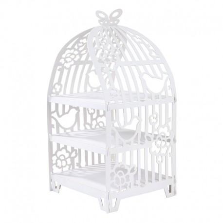 Stand per cupcake gabbia degli uccellini
