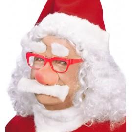 Occhiali Babbo Natale con Naso e Baffi