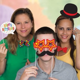 10 Accessori per Photo Booth Happy Birthday