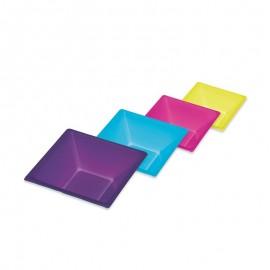 8 Ciotole Quadrate Colori Assortiti