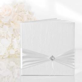 Libro per Dediche Bianco con decori Argento