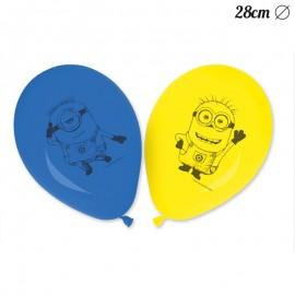 8 Palloncini dei Minions 28 cm