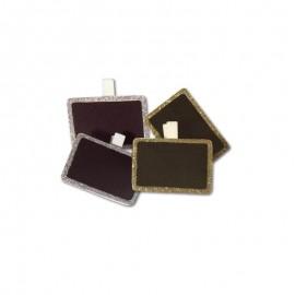 4 Lavagnette con Pinza 5 x 3,5 cm