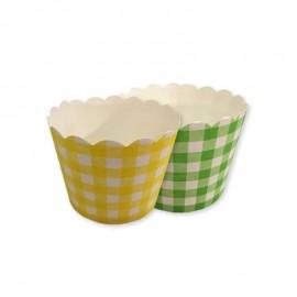 12 Pirottini Quadrati per Cupcake
