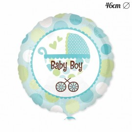 Palloncino Baby Shower Bambino con Passeggino 46 cm