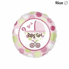 Palloncino Baby Shower Bambina con passeggino 46 cm
