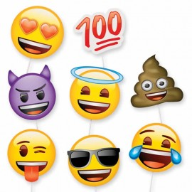 8 Accessori con Emoticon per Photo Booth