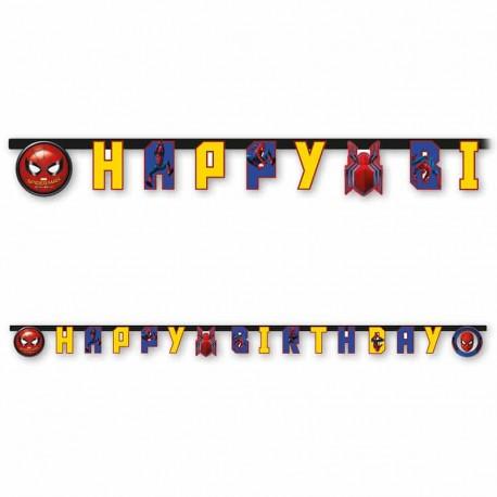 Festone Spiderman Home Coming Happy Birthday