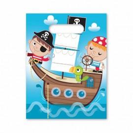 6 Sacchetti Pirata per bambini