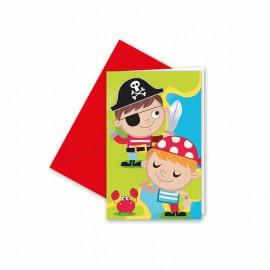 6 Inviti Pirata per bambini