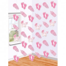 Decorazioni Appese Baby Shower Girl con Forme