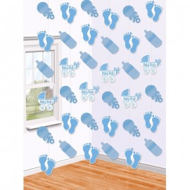Decorazioni Appese Baby Shower Boy con Forme