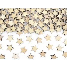 Coriandoli Stelle di legno 2 cm