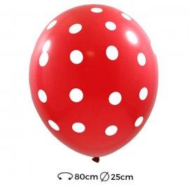 Palloncini Pois di Lattice 25 cm