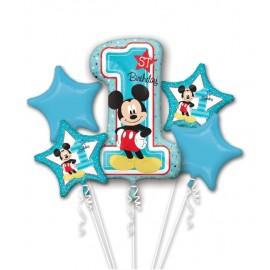 Bouquet di Palloncini Mickey 1° Compleanno