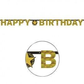 Festone Happy Birthday Elegant