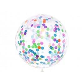 Globo Confeti Colores Variados 1 m