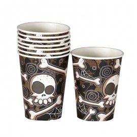 8 Bicchieri Teschio Halloween