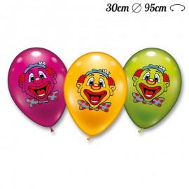 Palloncini Viso Clown Rotondi 30 cm