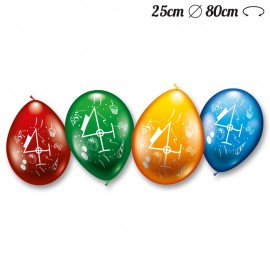 Palloncini Numero 4 Rotondi M02 25 cm