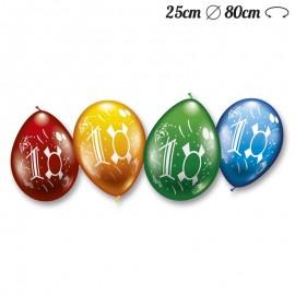 Palloncini Numero 10 Rotondi M02 25 cm