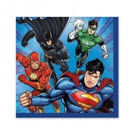 16 Tovaglioli Justice League 25 cm