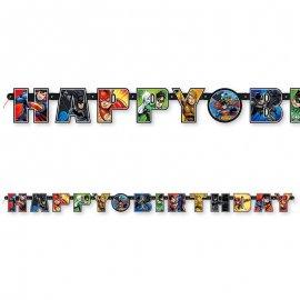 Festone Justice League Happy Birthday