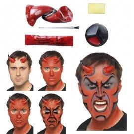 Kit de Pintura Diablo con Cuernos y Brocha