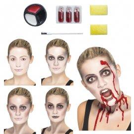 Kit Trucco Zombie con Pennello e Sangue