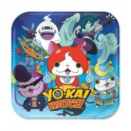 8 Piatti Yo Kai Watch 18 cm