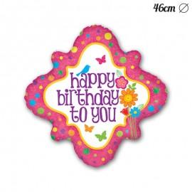 Palloncino Happy Birthday Forma di Specchio Foil 46 cm