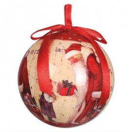 6 Palline Di Babbo Natale 6 cm