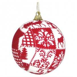 Pallina di Natale Rossa 8 cm