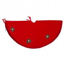 Copripiede Albero Natale Cuori 90 cm