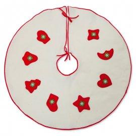 Copripiede Albero Natale Bianco 70 cm