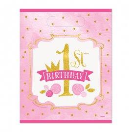 8 Sacchetti Primo Compleanno Bambina