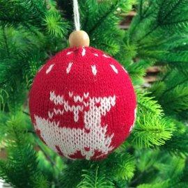 Pallina Di Natale In Lana 8 cm