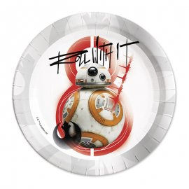 8 Piatti BB-8 Star Wars 23 cm