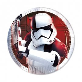 8 Piatti Star Wars VIII 20 cm
