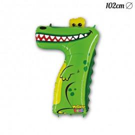 Palloncino Numero 7 Coccodrillo Foil 102 cm