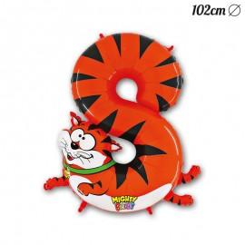 Palloncino Numero 8 Tigre Foil 102 cm