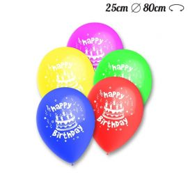 Palloncini Happy Birthday Pack Rotondi 25 cm