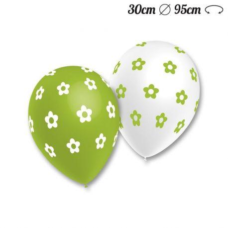 Palloncini Fiori Pop Rotondi 30 cm