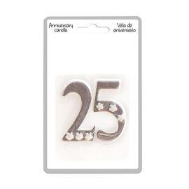 Candela 25 Nozze d'Argento