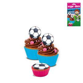 16 Mini Dischi Calcio di Zucchero Senza Glutine