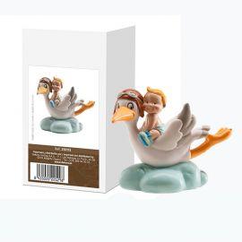 Cicogna volante per Bambino 10 cm